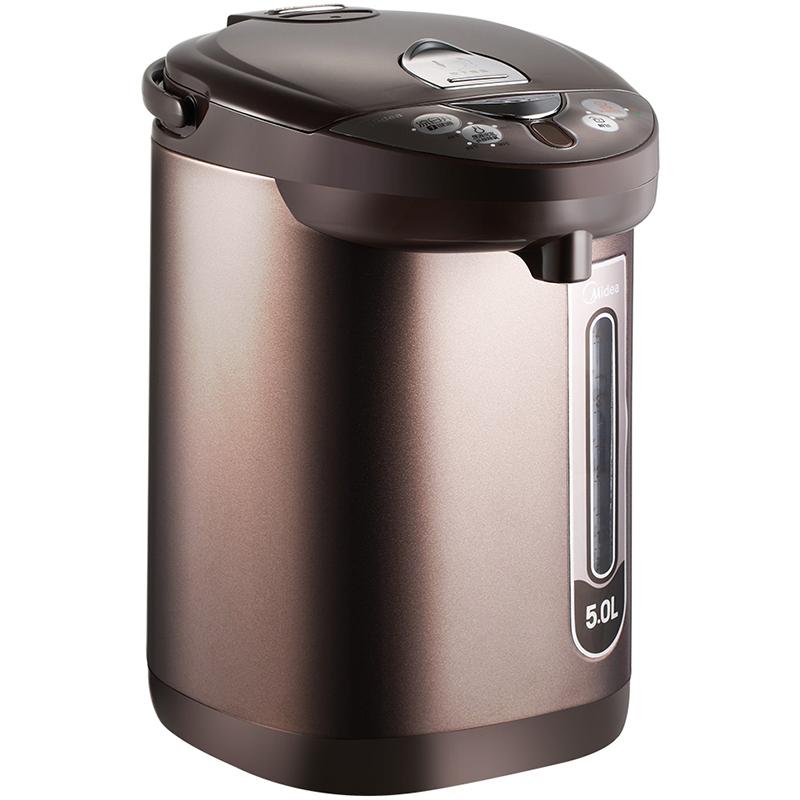 美的(Midea)电热水瓶 304不锈钢电水壶 5L容量 多段温控电热水壶 凉白开一键通烧水壶PF703-50T