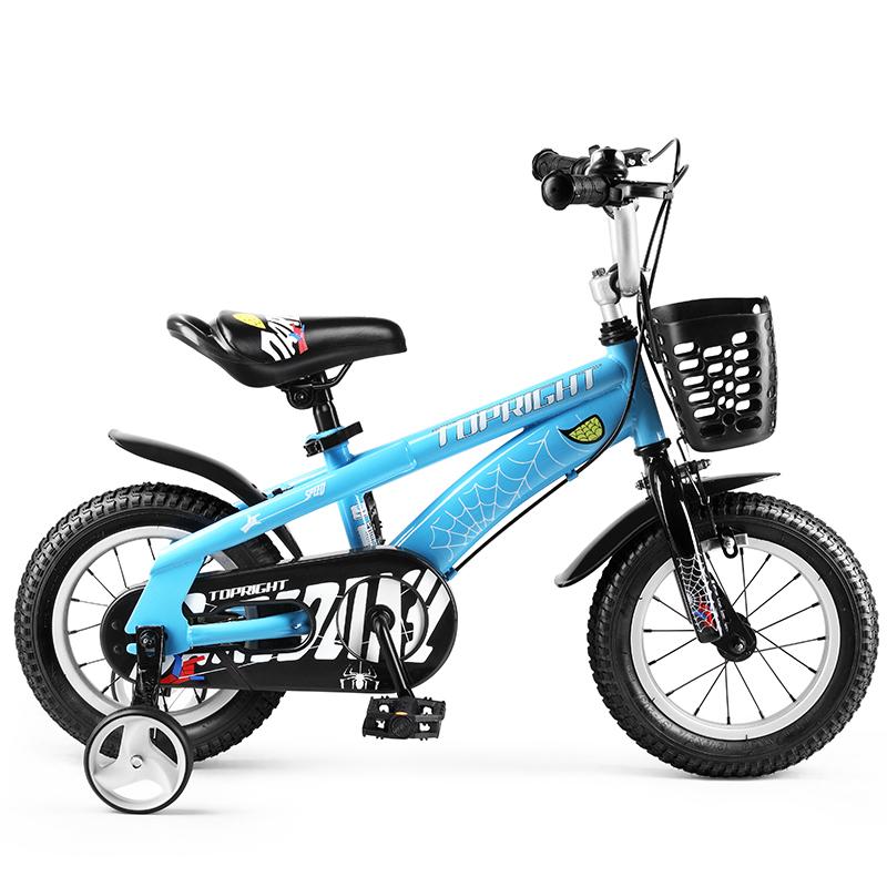 途锐达(TOPRIGHT)儿童自行车 男孩单车 脚踏车4/5/6/7/8岁儿童单车 18寸 经典版蜘蛛侠 蓝色