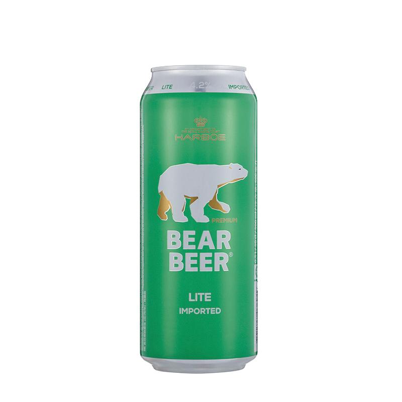 德国进口 哈尔博(Harboe)熊牌清爽啤酒500ml*24整箱装