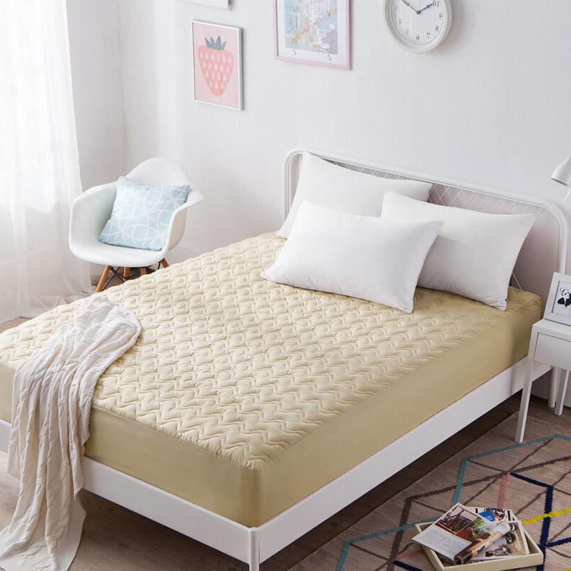 南极人家纺 床笠单件 加厚夹棉床罩床单 可水洗床垫套防滑床垫保护套 夹棉床笠 驼色 180x200cm