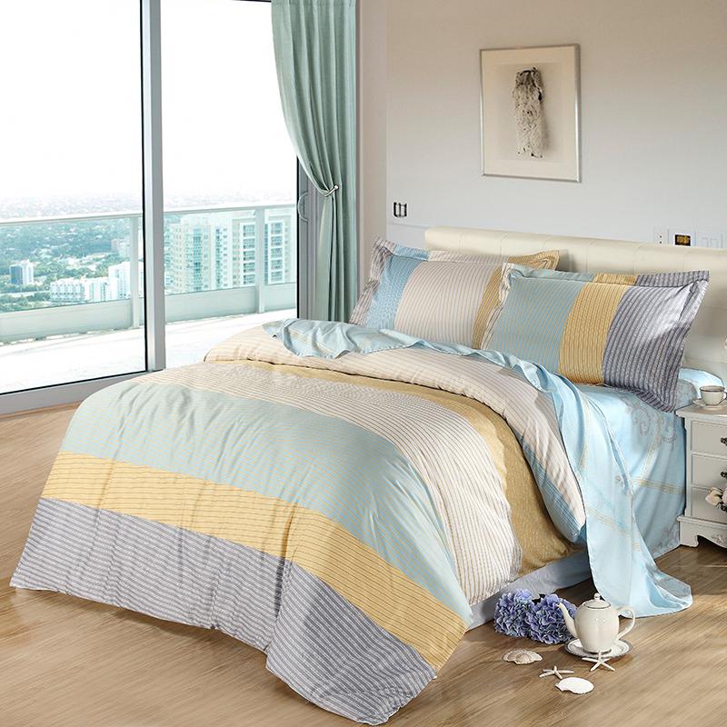 SAINTMARC罗莱出品 198纱支纯棉四件套 全棉床品套件家纺床上用品床单被罩 逸想 200*230