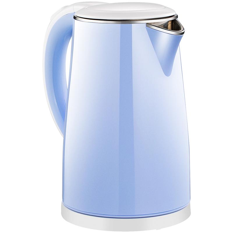 美的(Midea)电水壶 304不锈钢电热水壶 1.7L容量 双层防烫烧水壶WHJ1705C(时尚青春范)