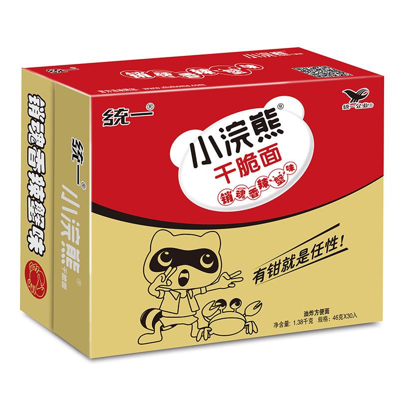 統一 小浣熊 銷魂香辣蟹味 干脆面 30包 整箱裝