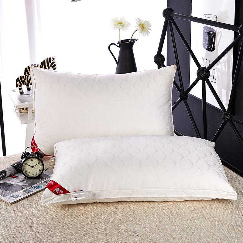 北极绒 Bejirog 羽绒鹅毛枕 全棉面料星级酒店款枕头枕芯 鹅毛枕一只装 48*74cm