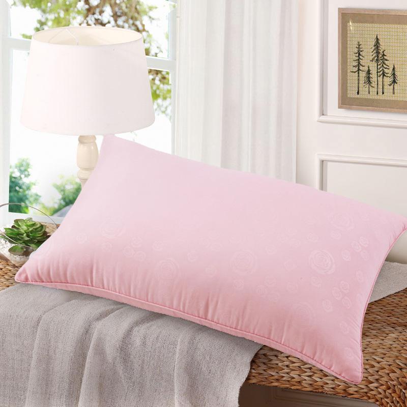 水星家纺 单人枕头枕芯 高弹耐压纤维枕芯 奥斯丁玫瑰四孔枕头 74*48cm