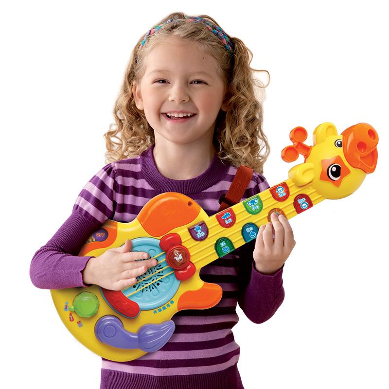 偉易達Vtech 長頸鹿吉他 兒童吉他玩具樂器 小吉他男女孩迷你吉他音樂