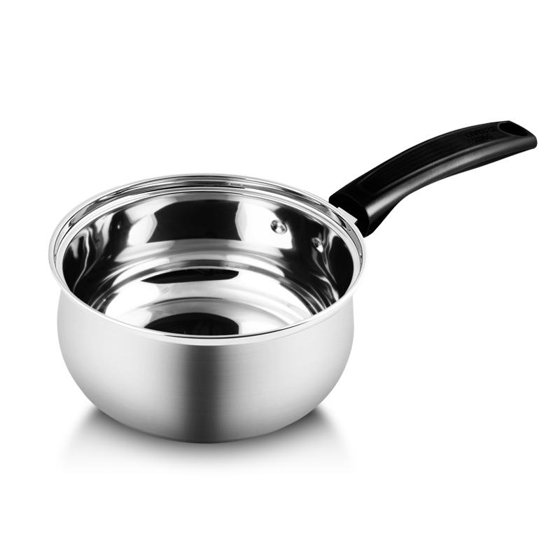 炊大皇奶鍋304不銹鋼奶鍋16cm美式健康無涂層泡面煮奶嬰兒輔食鍋 電磁爐通用WG16348