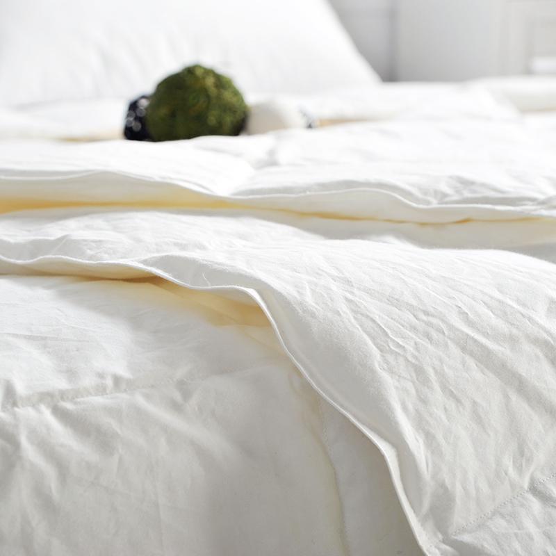佳佰 羽绒被 春秋被 四季被 70%白鸭绒 单人100%棉 羽绒裸睡亲肤被 简尚 适用1.5米双人床(200*230cm)