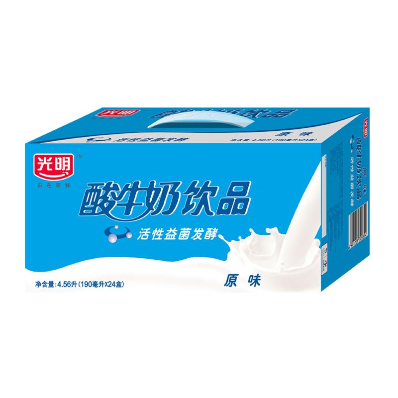 光明 酸奶酸牛奶饮品(原味)190ml*24盒中华老字号
