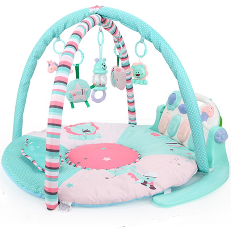 贝恩施(beiens)婴儿玩具健身架宝宝脚踏钢琴儿童带音乐带遥控器B212