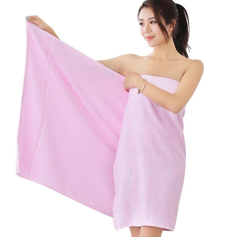 竹之锦 毛巾家纺 竹纤维纯色柔软吸水生态至简大浴巾 粉色 360g/条 70×140cm