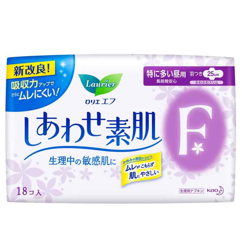花王乐而雅(laurier)F系列卫生巾特惠套装(日用36片+夜用14片)日本进口