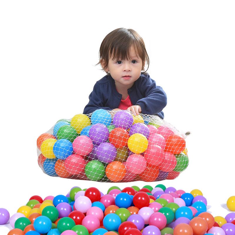 澳樂 兒童玩具波波海洋球布制波波球彩球池海洋游戲圍欄球池 6.5CM 120裝 AL-H15008