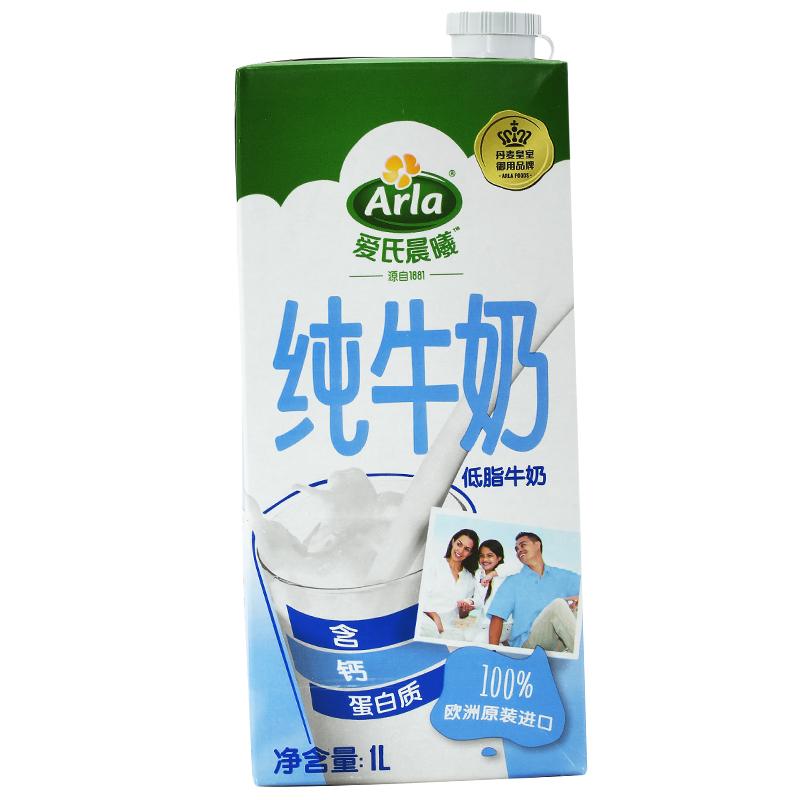 德國 進口牛奶 Arla愛氏晨曦低脂牛奶 1L*12 整箱裝