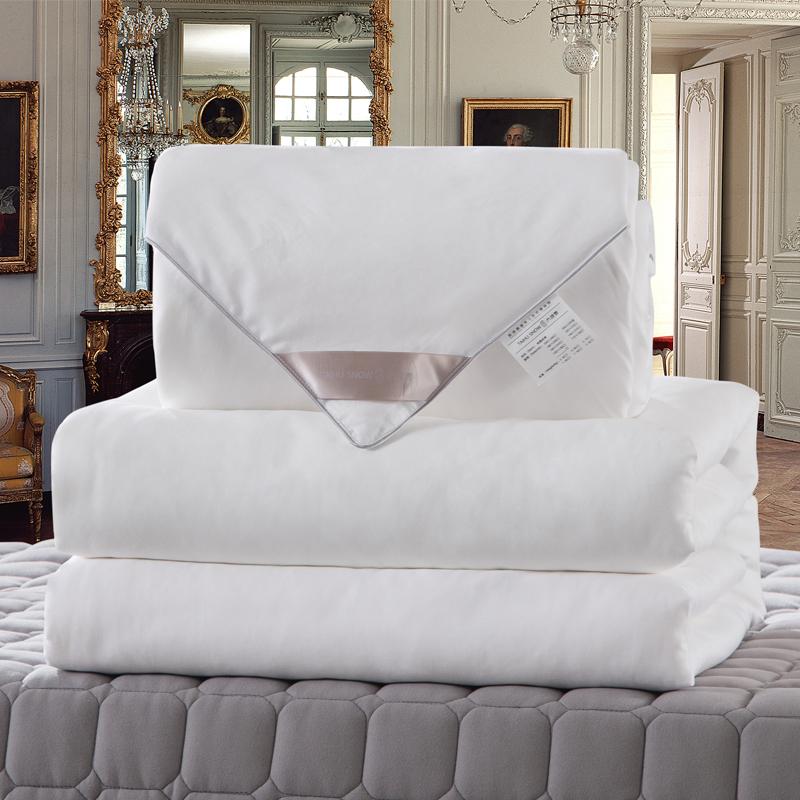 太湖雪 被芯家纺 100%桑蚕丝被 优质长丝填充 全棉面料 子母被 四季被 白色 净重2+4斤 200*230cm