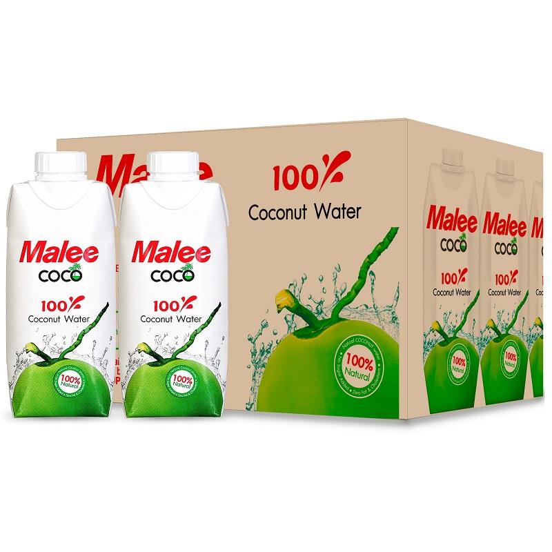 玛丽(Malee Coco)天然椰子水饮料330ml*12瓶 整箱 泰国进口