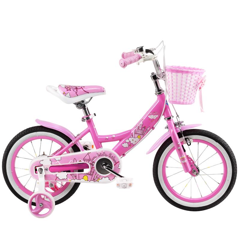 途锐达(TOPRIGHT)儿童自行车 女孩单车 脚踏车4/5/6/7/8岁儿童单车 18寸 经典版小城堡 粉色