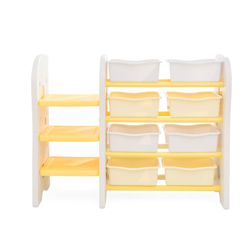 澳樂 兒童書架玩具架 多功能組合收納架[書架+整理架] 玩具整理置物架 AL-E1609007