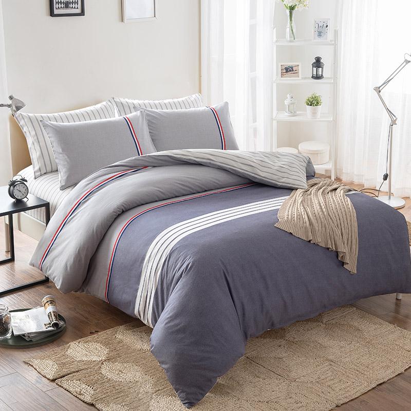 南极人 床品套件 纯棉四件套 全棉床上用品床单被套 华尔兹 1.5米/1.8米