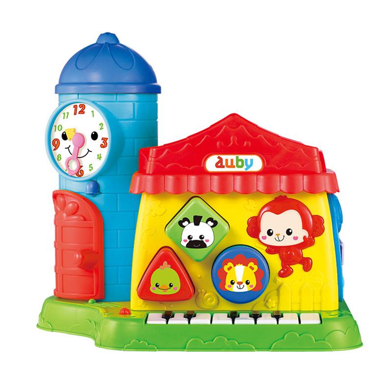 澳贝 (AUBY)智慧学习屋 7面场景10个玩法26种音效双语模式婴幼儿音乐玩具 463828DS