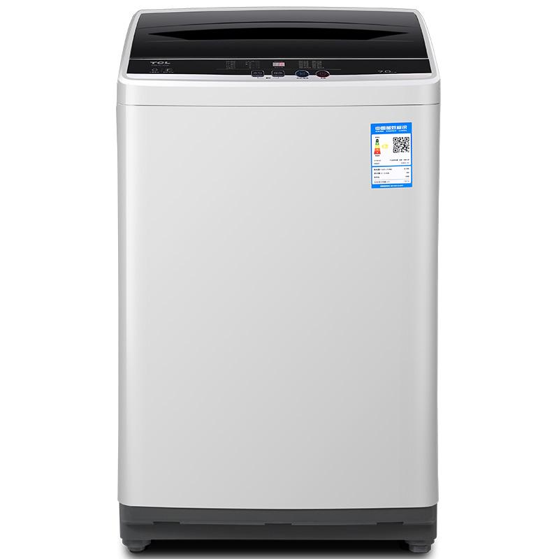 TCL 7公斤 全自動波輪洗衣機 一鍵脫水 24小時預約(寶石黑) XQB70-36SP