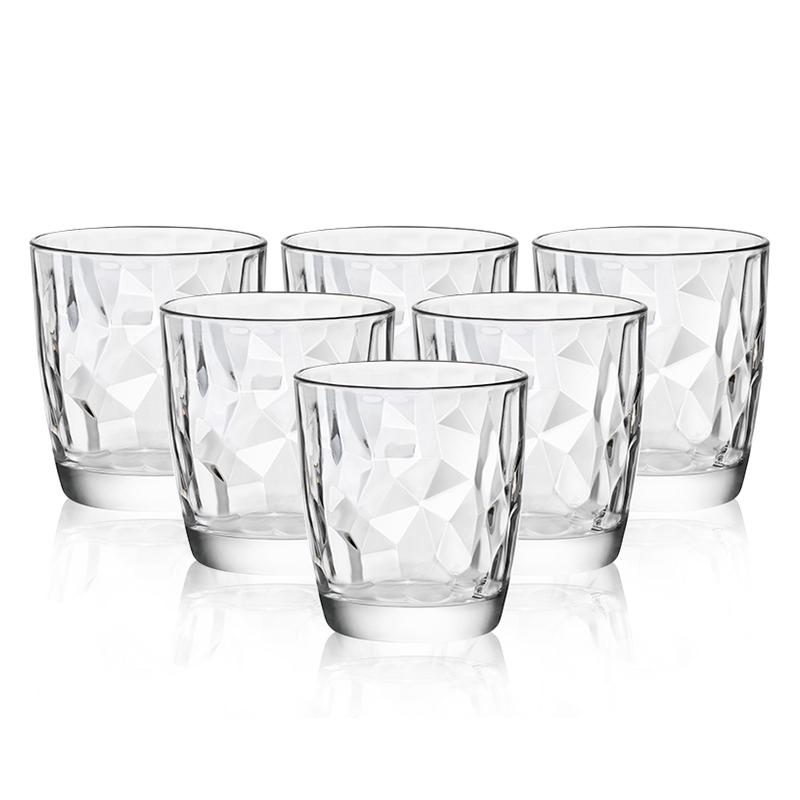 波米欧利(Bormioli Rocco)意大利进口无铅玻璃杯水杯玻璃杯套装305mL*6支装
