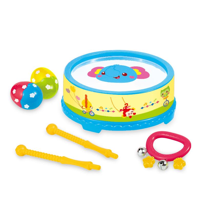 澳贝 (AUBY)启蒙乐器大鼓组4pcs 奥尔夫乐器音乐玩具 463830DS