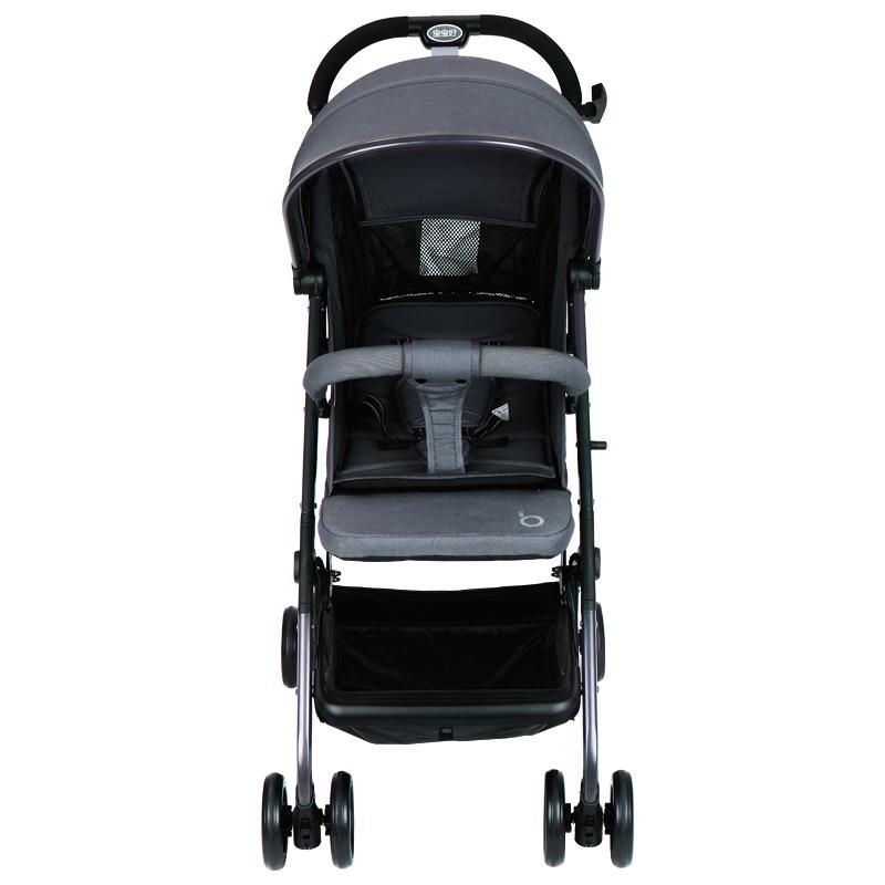 宝宝好婴儿推车高景观可坐?#21830;?#36731;便折叠伞车儿童避震拉杆式手推车婴儿车月光灰