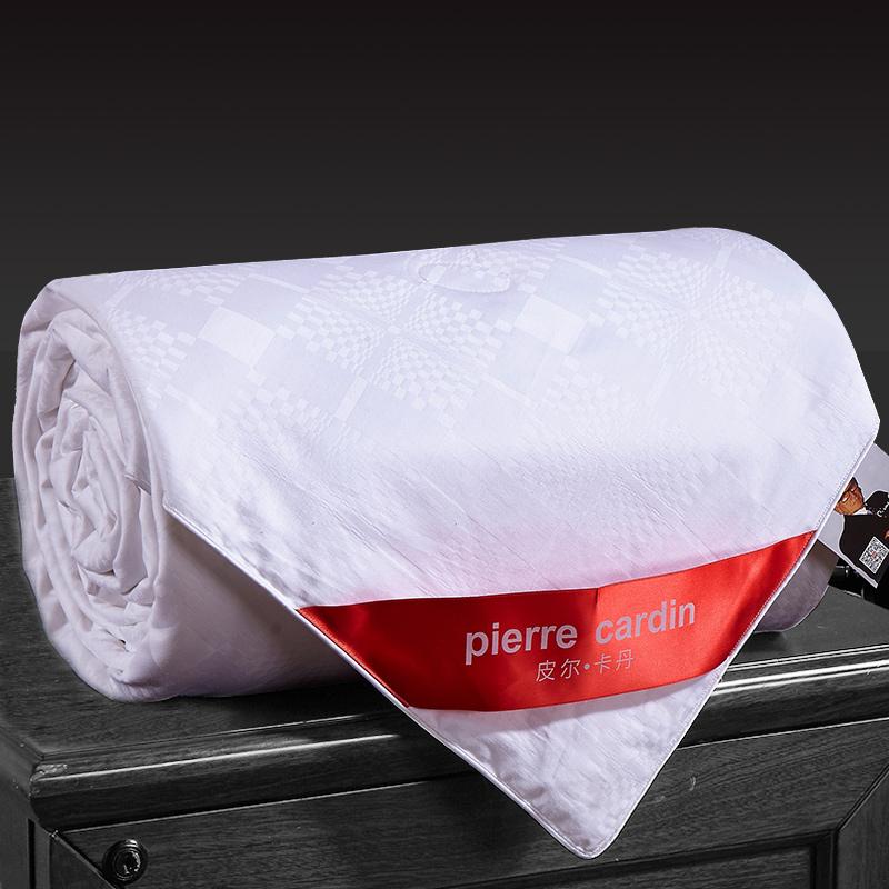 皮尔卡丹 被子家纺 蚕丝被100%桑蚕丝空调被夏凉被子被芯 白色 蚕丝净重2斤 200*230cm