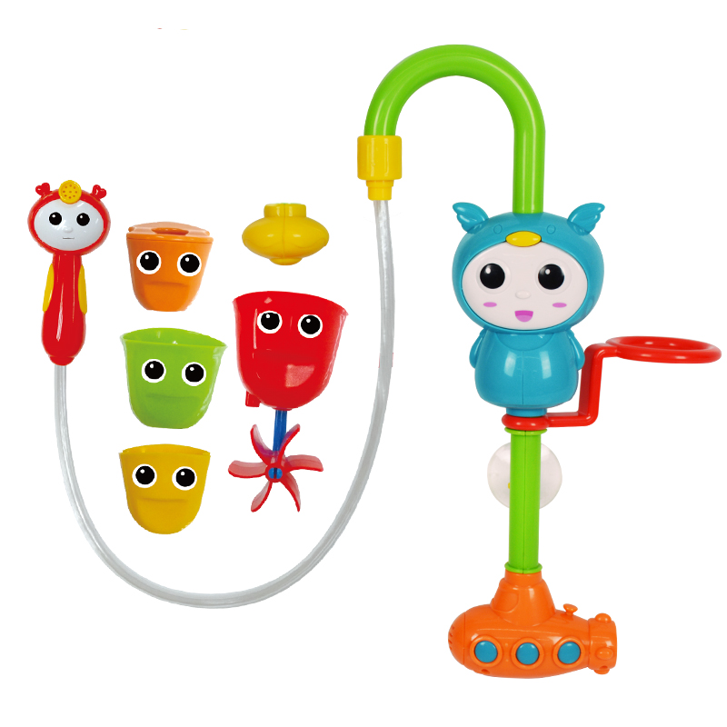 貝芬樂 buddyfun 兒童洗澡戲水玩具 水哆哆淋浴組合 寶寶嬰兒浴盆浴缸帶花灑小水車