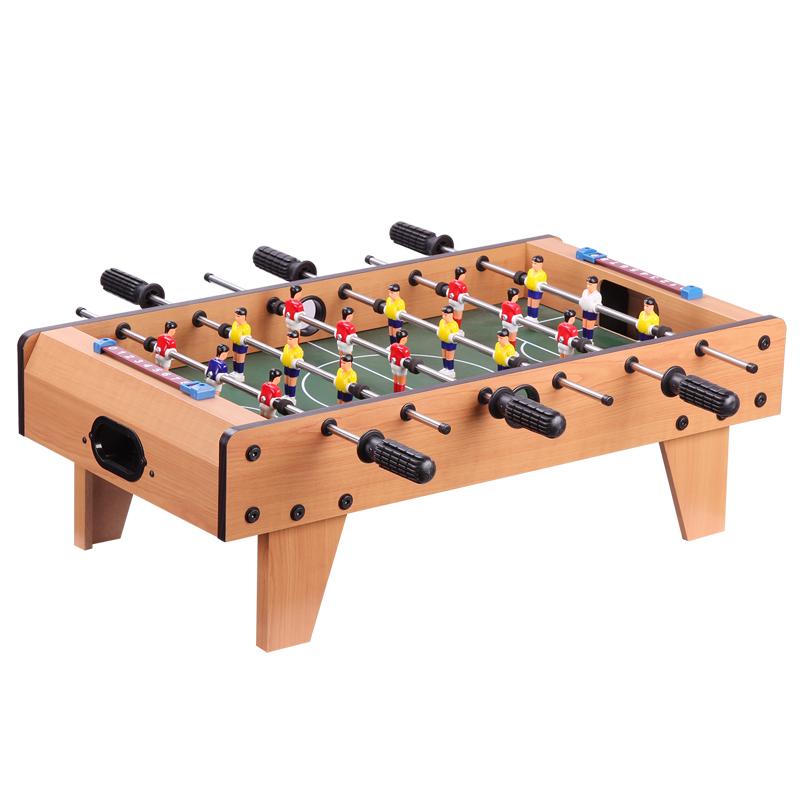 皇冠玩具( HUANGGUAN )升级6杆桌上足球台 木制桌面足球 儿童玩具小桌子 男孩玩具 儿童足球桌 游戏桌2135