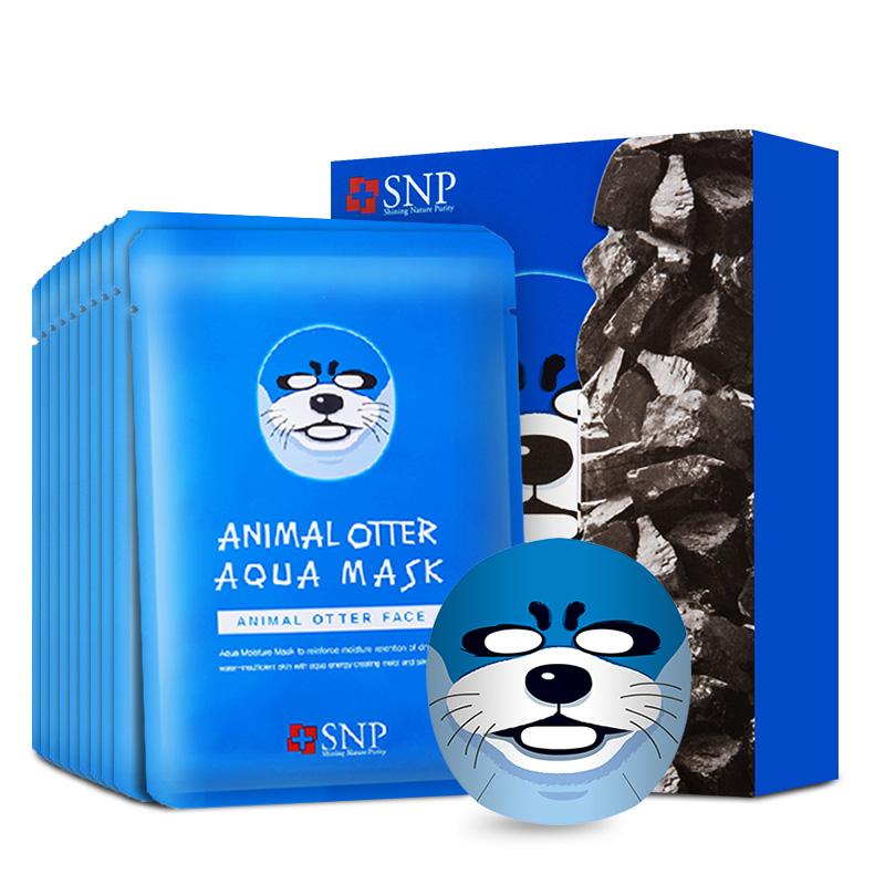 SNP(斯内普)水獭形水漾保湿面膜 25ml*10(补水保湿 滋养嫩肤 男女 动物面膜)