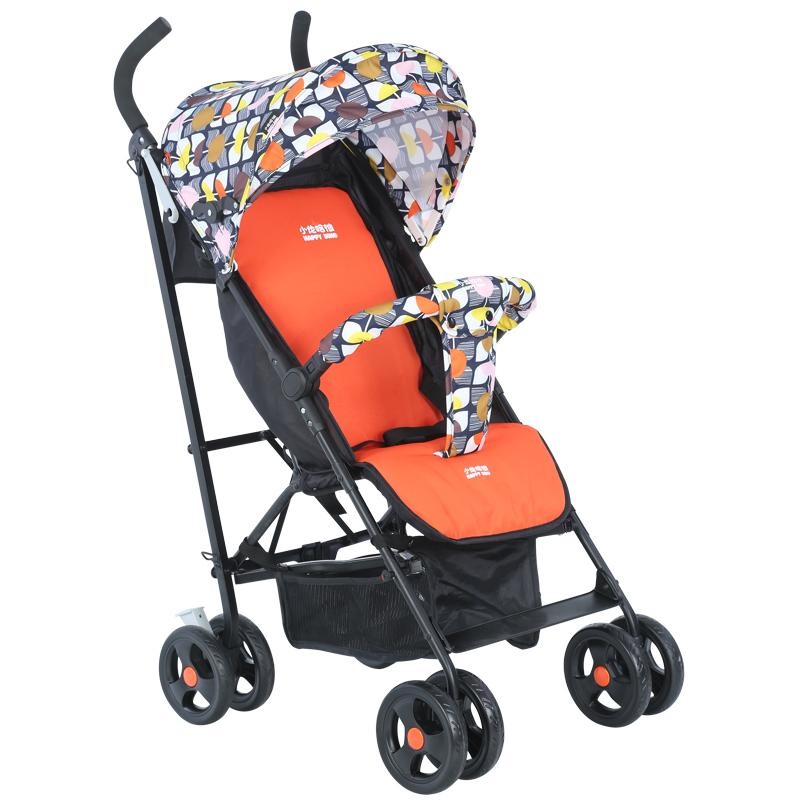 hd小龍哈彼 嬰兒推車可坐可躺輕便可折疊避震寶寶兒童手推傘車 瑞絲橘LD289-T226