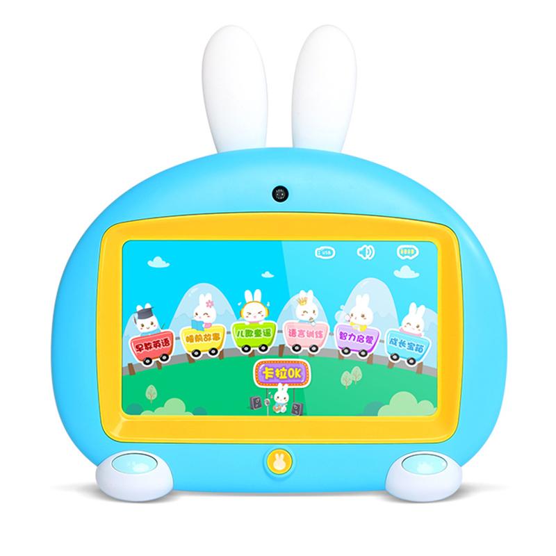 火火兔儿童?#36866;?#26426;益智玩具早教机英语启蒙视频机触屏卡拉OK学习机I6蓝色
