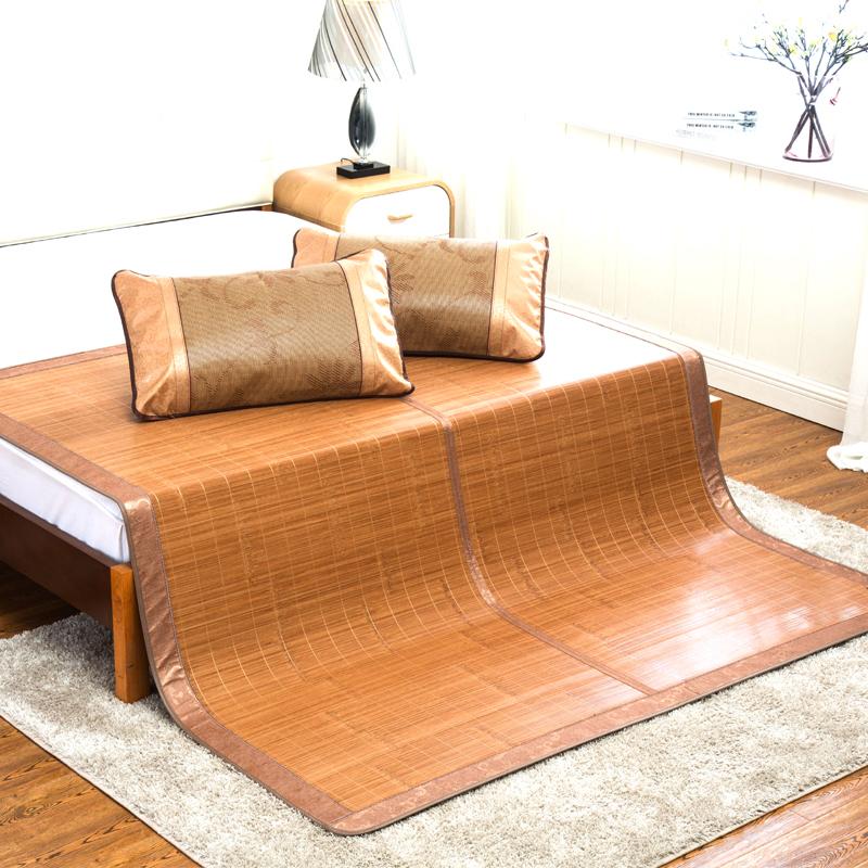 九洲鹿 升级双面可折叠双人水磨竹席 凉席 180*195 水木年华 1.8米床(不含枕席)