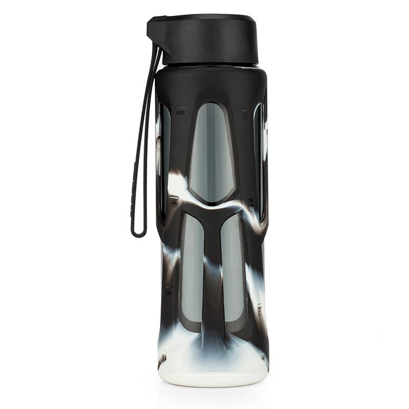 優道(Unibott)水杯美國進口Tritan材質便攜運動水壺防漏創意塑料杯戶外運動旅行泡茶杯750ml 麓林黑