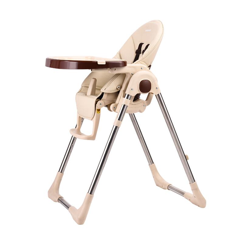贝能(Baoneo)儿童餐椅多功能可折叠婴儿餐椅四合一便携宝宝餐椅h580(xb-x)适合0-4岁 尊贵香槟色