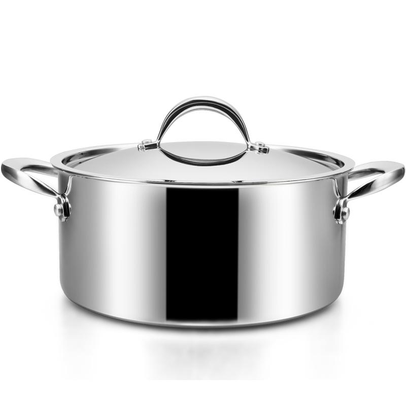 铂帝斯Bodeux 骑士汤锅24cm 304整体三层不锈钢 煲炖汤锅具