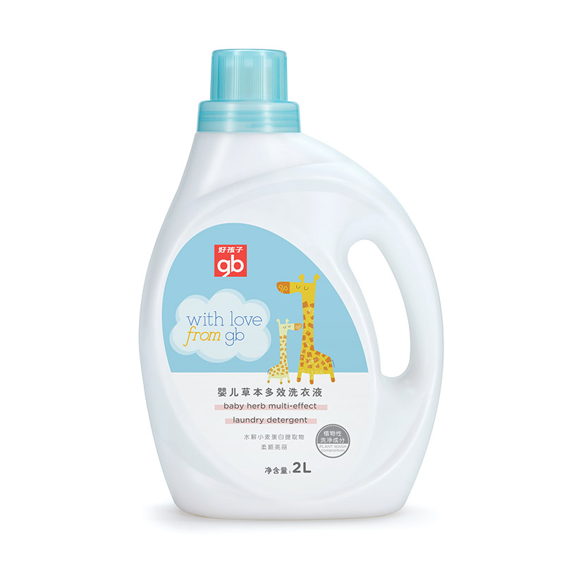 gb好孩子婴儿草本多效洗衣液2L