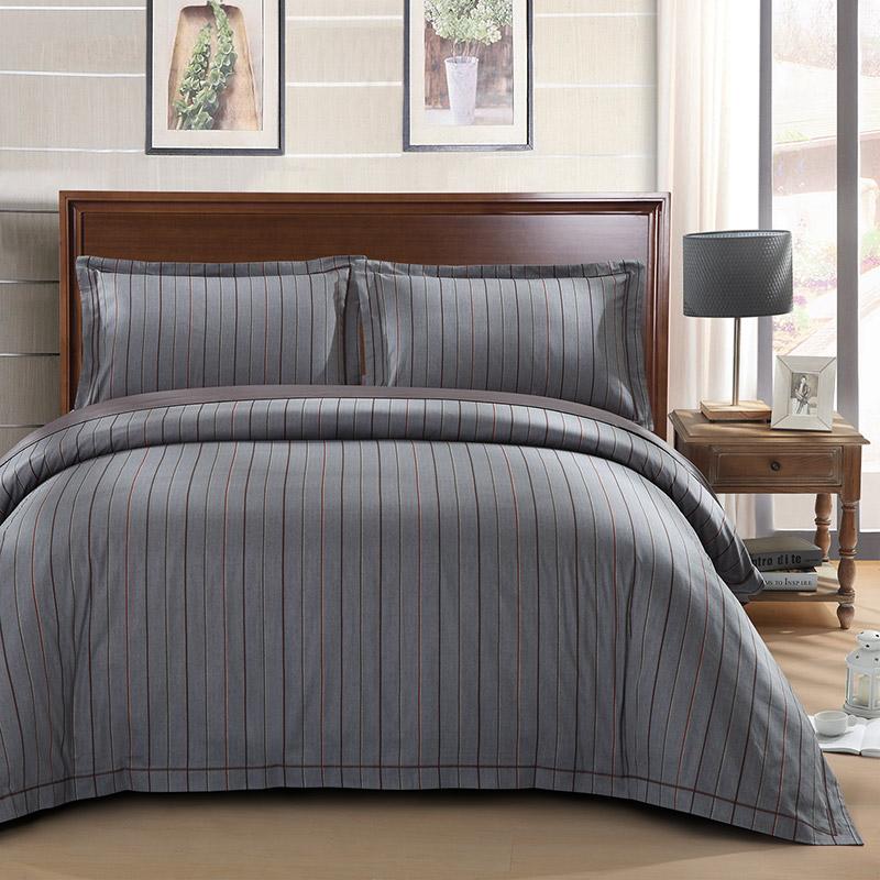 LUOLAI罗莱家纺 224纱支纯棉四件套 全棉床上用品床品套件床单被罩 DY829摩登森林 200*230