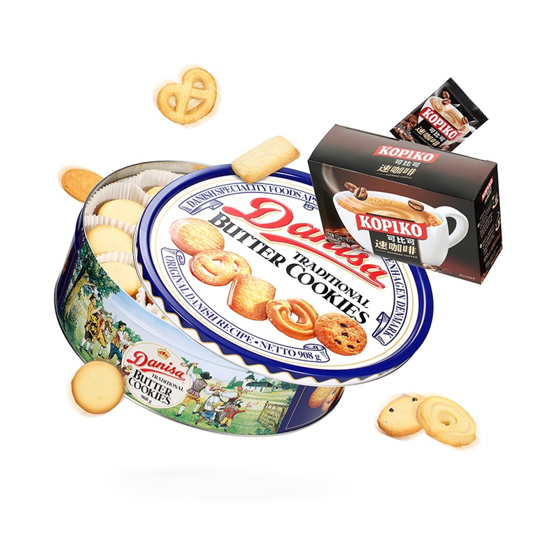 印尼進口 皇冠(danisa)丹麥曲奇餅干908g(新老包裝隨機發貨)