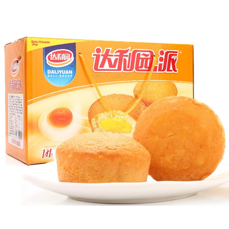 达利园 蛋黄注心派 营养早餐零食面包饼干蛋糕 650g