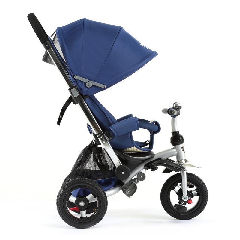 小虎子(little tiger)可躺可坐儿童三轮车 双离合双刹车三轮手推车小孩脚踏车T350 蓝色