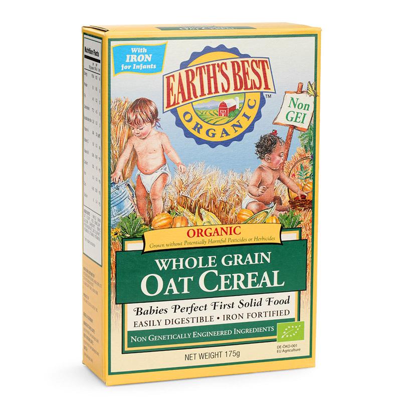 爱思贝(EARTH'S BEST) 有机燕麦粉175g 宝宝婴儿辅食德国原装进口高铁米粉钙铁锌营养米糊 6个月宝宝