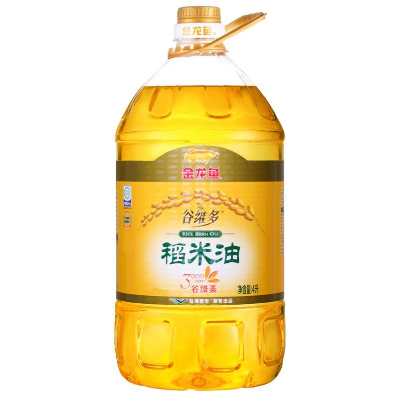金龙鱼 食用油 谷维多稻米油4L(产品升级新老包装随机发放)