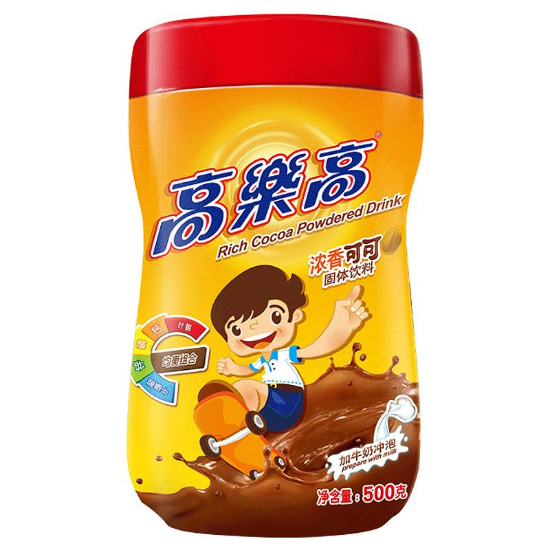 高樂高  可可粉經典原味固體飲料 沖飲即食 巧克力粉500g/罐