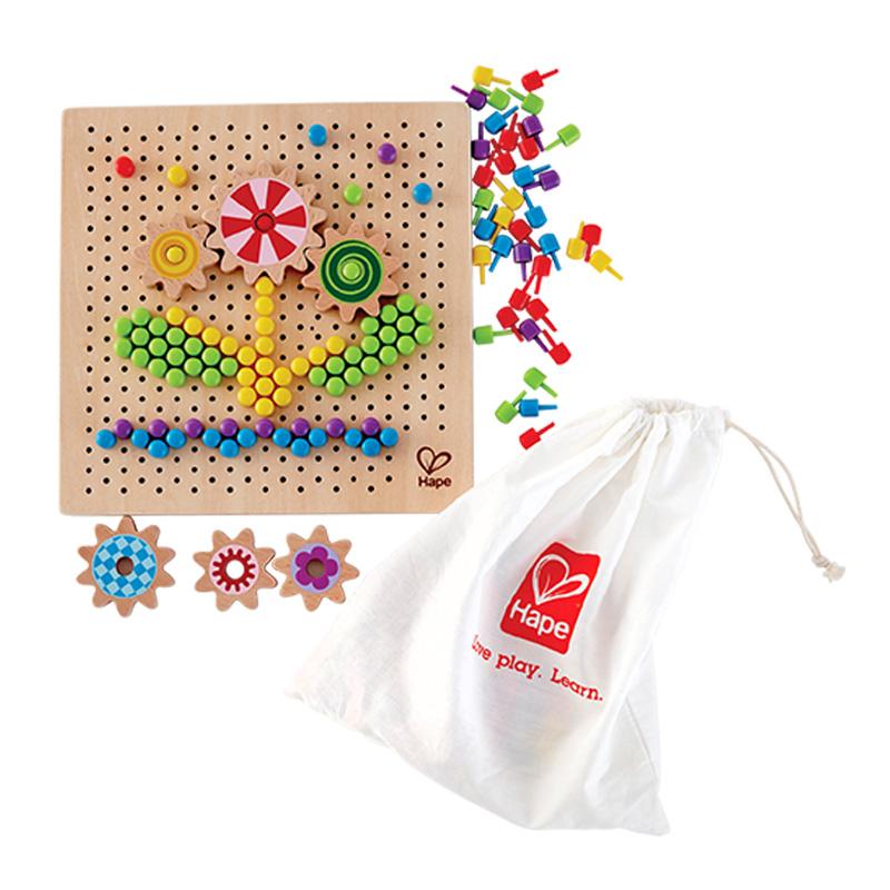 Hape 積木拼圖 百變像素畫 3歲以上 E8369 益智早教 兒童玩具