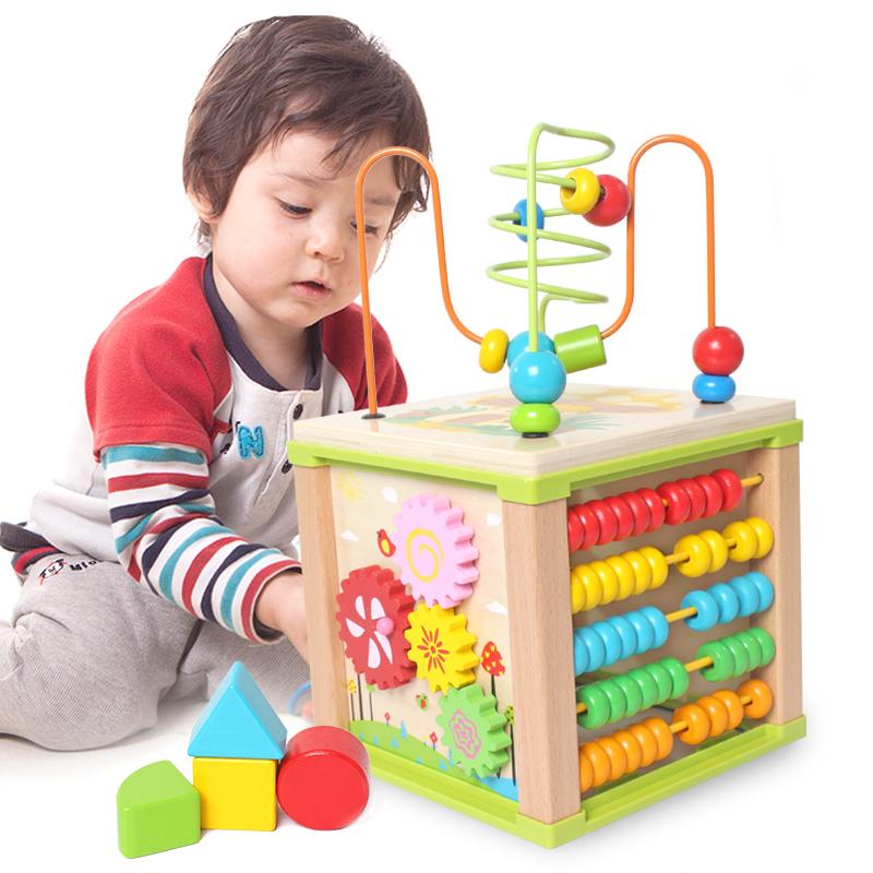 铭塔(MING TA)多功能玩具箱 串珠绕珠儿童益智玩具 婴幼儿宝宝早教启蒙盒装