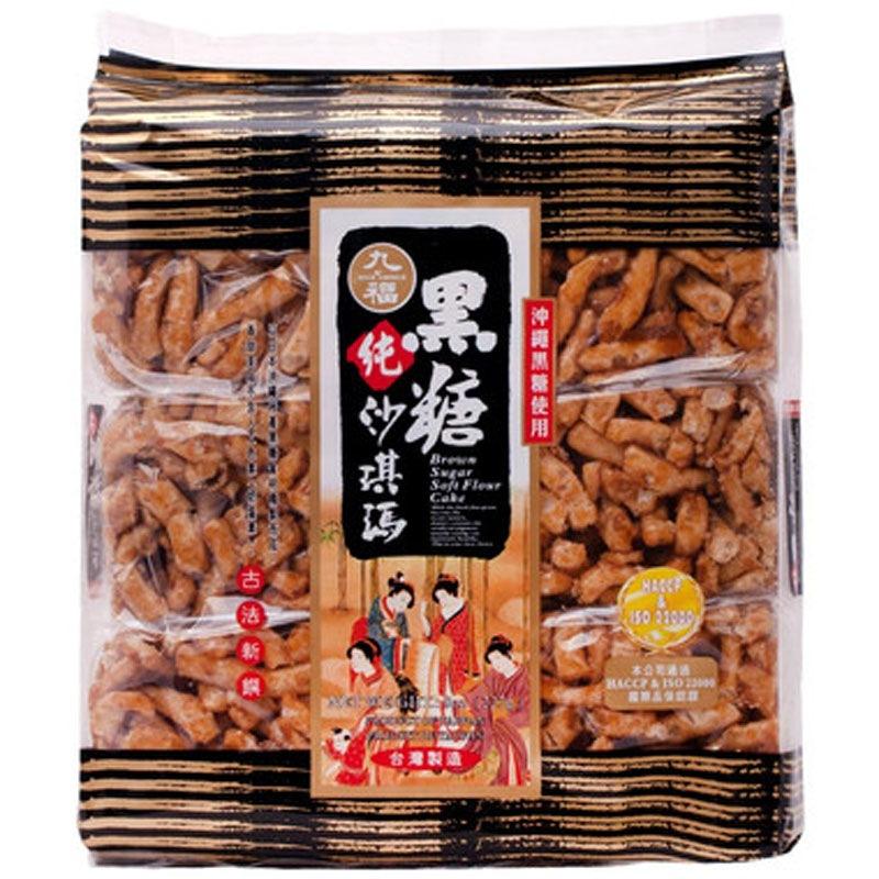 中国台湾 九福赤砂糖沙琪玛(黑糖沙琪玛) 227g