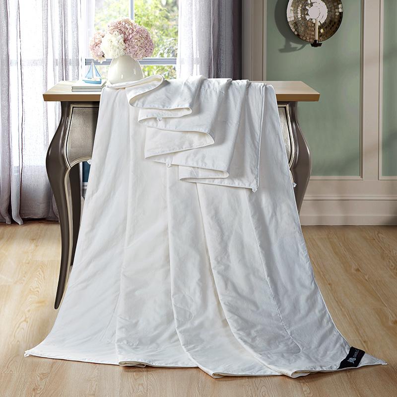 安睡宝(somerelle)蚕丝被子 100%全棉天然蚕丝空调被夏凉被 双人被芯200*230cm